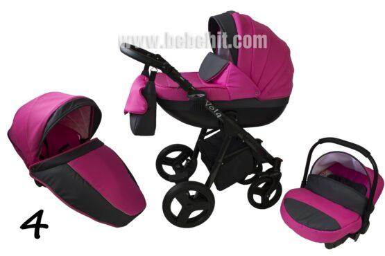 Бебешка количка Volq 3в1; цвят: циклама