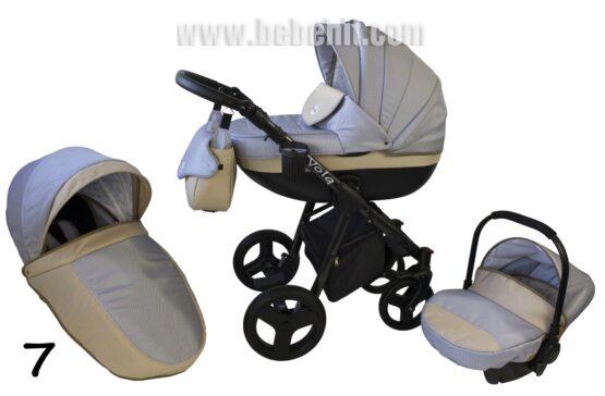 Бебешка количка Volq 3в1; цвят: сив/бежов