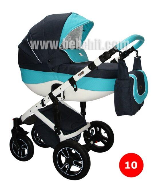 Бебешка количка Boxter 3в1; цвят: черен/син