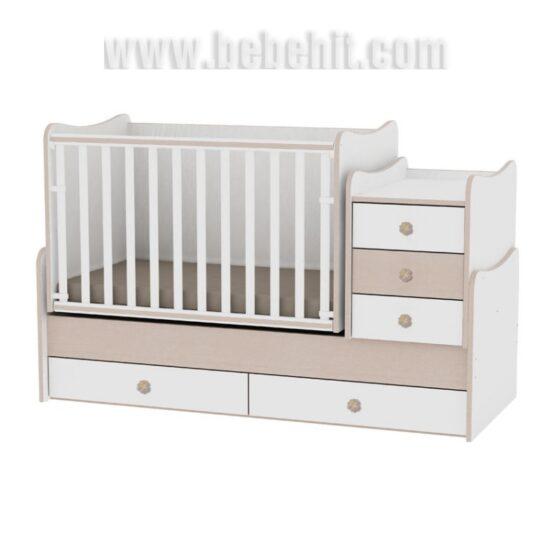 Детско легло Maxi Plus цвят: бял/дъб