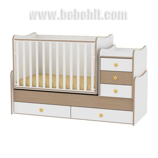 Детско легло Maxi Plus цвят: бял/бук