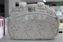 Чанта за количка Миси Lux; цвят: екрю/пепел от рози/дантела