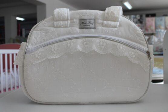 Чанта за количка Миси Lux; цвят: екрю/дантела
