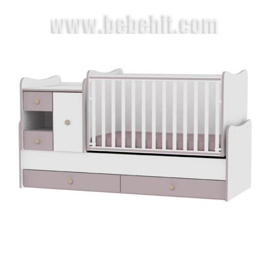Детско легло MiniMax; цвят: бял/капучино