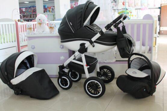 Бебешка количка Cayenne Eco 3в1; черен