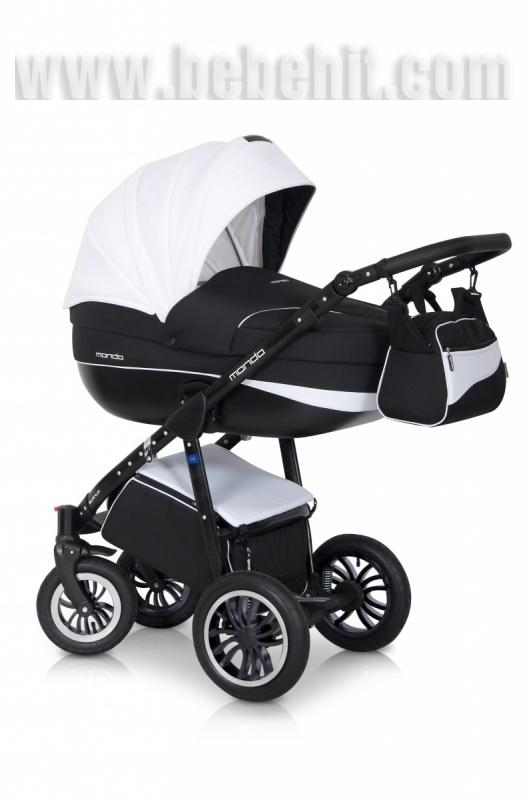 Бебешка количка EXPANDER Mondo 3в1 – бял/черен