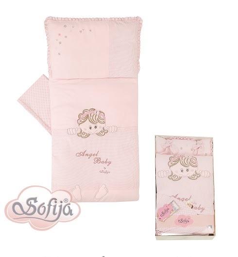 Спален комплект Моли 5 части; цвят: розов