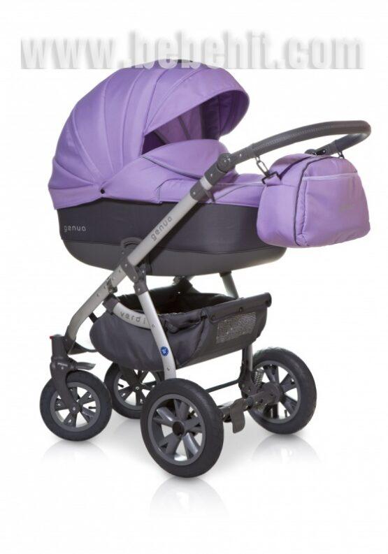 Бебешка количка Genua 3в1 цвят: лилав