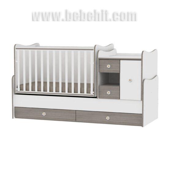 Детско легло MiniMax; цвят: бял/кафе