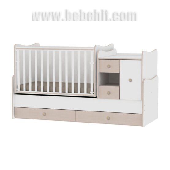 Детско легло MiniMax; цвят: бял/дъб