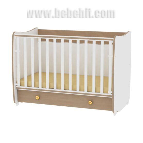 Детско легло Dream NEW 60×120 цвят: бяло/бук