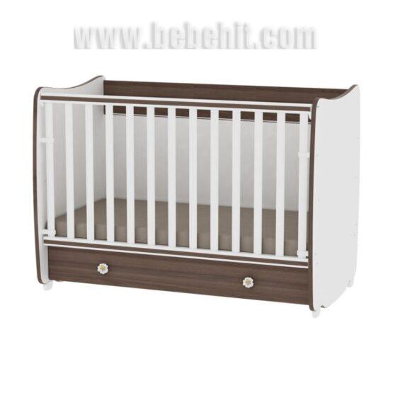 Детско легло Dream NEW 60×120 цвят: бял/орех