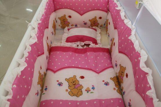 Спален комплект Еко 7 части; цвят: розов