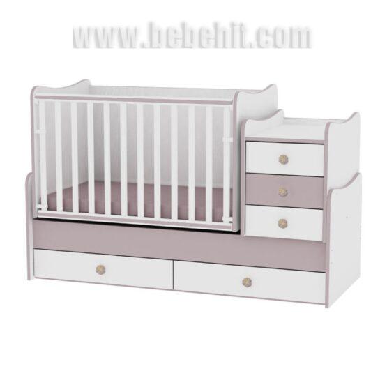 Детско легло Maxi Plus цвят: бял/капучино