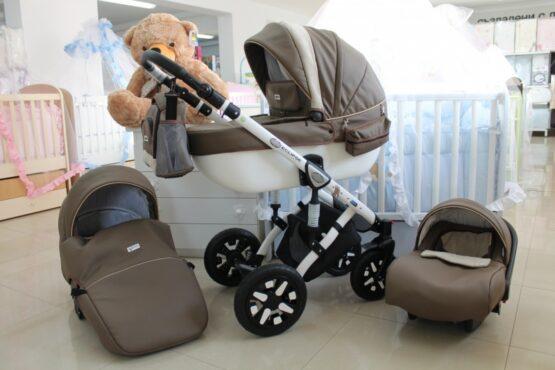 Бебешка количка Eclipse Eco 3в1; цвят: кафяв