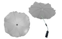 Чадър за количка; цвят: светло-сив