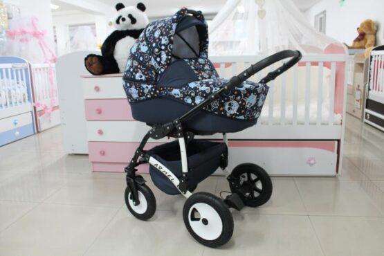 Бебешка количка Armel 2в1; цвят: син/бухалчета