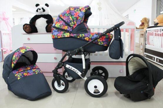 Бебешка количка Armel 3в1; цвят: шарени цветя