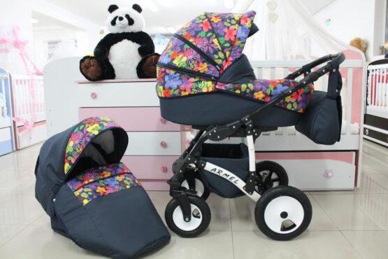 Бебешка количка Armel 2в1; цвят: шарени цветя