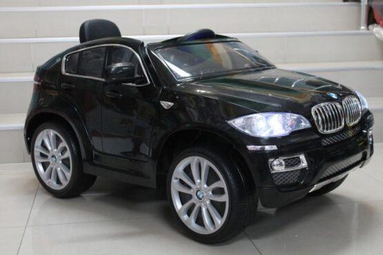 Акумулаторен джип BMW X6; цвят: черен