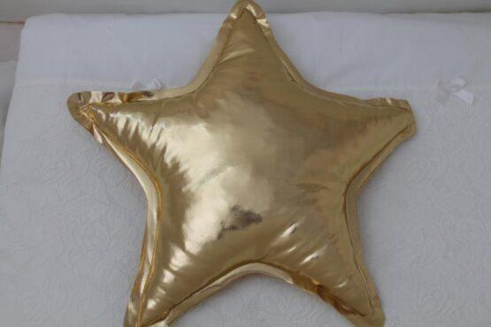 Декоративна възглавница Звезда; цвят: златен