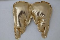 Декоративна възглавница Ангелче; цвят: златен