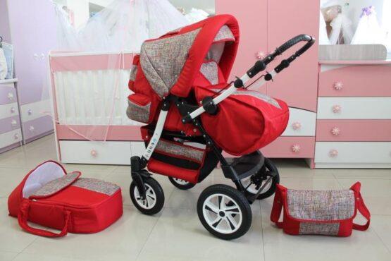 Бебешка количка Ross; цвят: червен