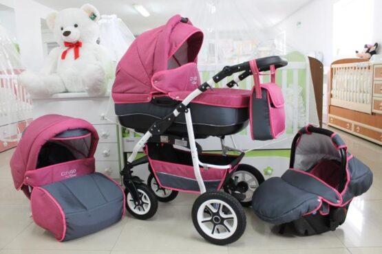 Бебешка количка City GO 3в1; цвят: розов