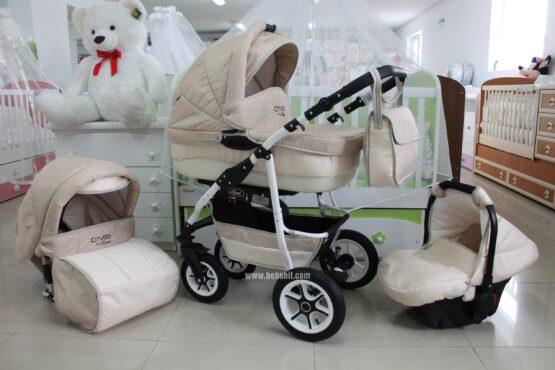 Бебешка количка City GO 3в1; цвят: крем