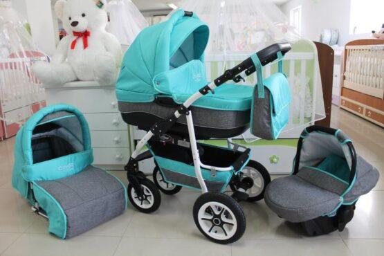 Бебешка количка City GO 3в1; цвят: аквамарин