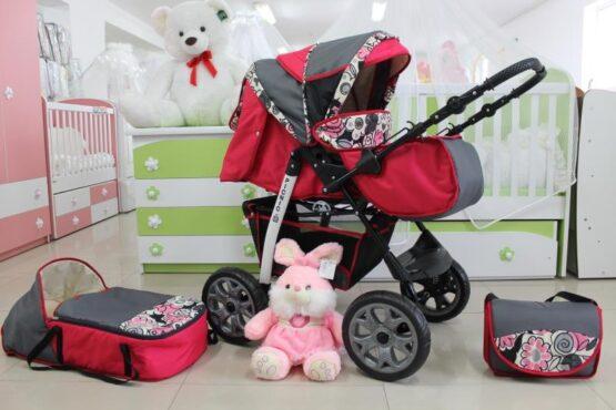 Бебешка количка Picnic; цвят: циклама/сив