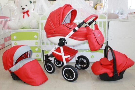 Бебешка количка Cayenne Eco 3в1; червен