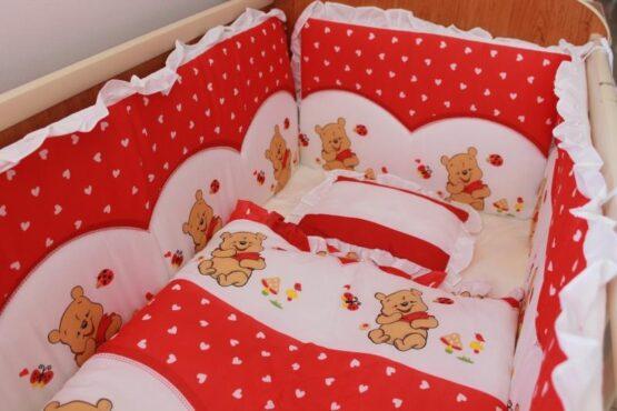 Спален комплект Еко 7 части; цвят: червен