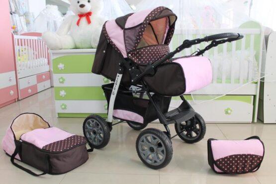 Бебешка количка Picnic; цвят: кафяв/розов