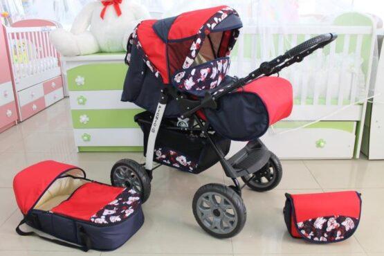 Бебешка количка Picnic; цвят: тъмно-син/червен
