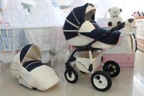 Бебешка количка ARMEL 2в1; цвят: тъмно-син/крем