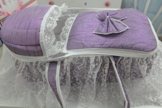 Портбебе Миси; цвят: лилав с дантела
