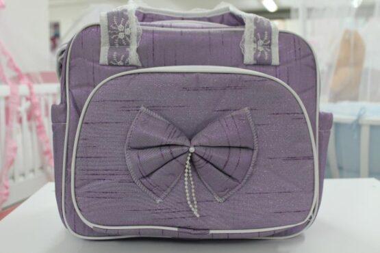 Чанта за количка Миси Lux; цвят: лилав с панделка