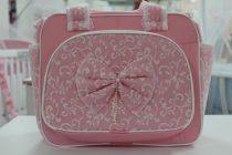 Чанта за количка Миси Lux; цвят: розов с панделка