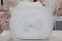 Чанта за количка Миси Lux; цвят: бял с панделка