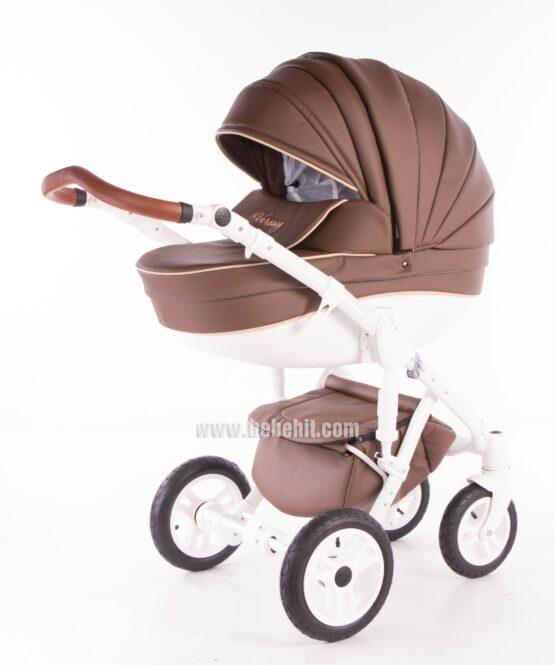 Бебешка количка Versacy Eco 2в1; цвят: кафяв