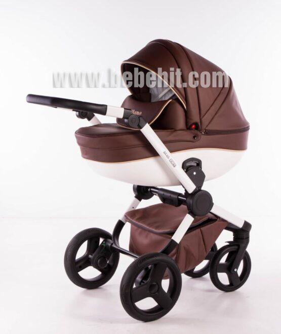 Бебешка количка Milano 2в1; цвят: кафяв