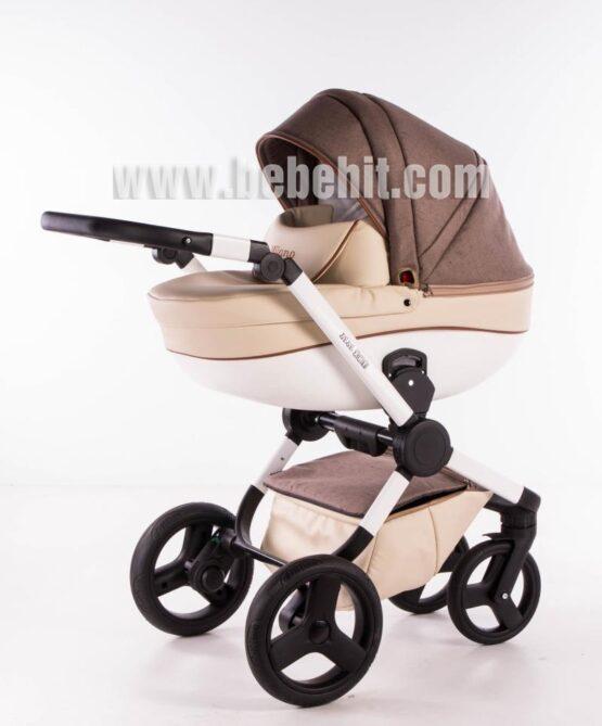Бебешка количка Milano 2в1; цвят: крем/кафяв