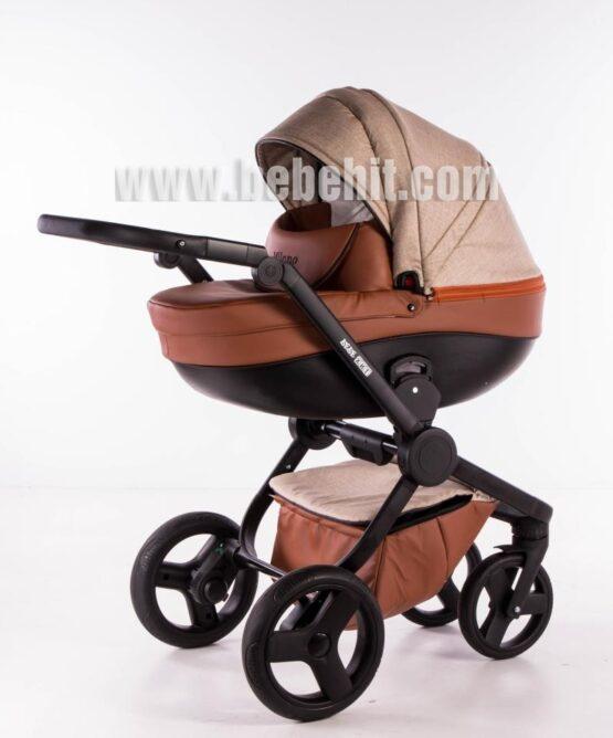 Бебешка количка Milano 2в1; цвят: бежов/кафяв