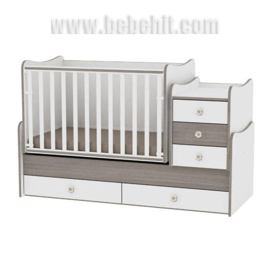 Детско легло Maxi Plus цвят: бял/кафе