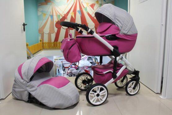 Бебешка количка Camaro 2в1; цвят: циклама