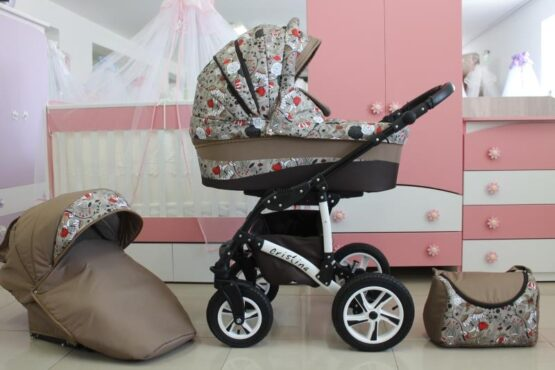 Бебешка количка Cristina 2в1; цвят: бежов