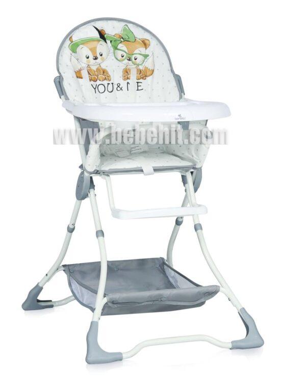 Столче за хранене Bon Bon; цвят: бял