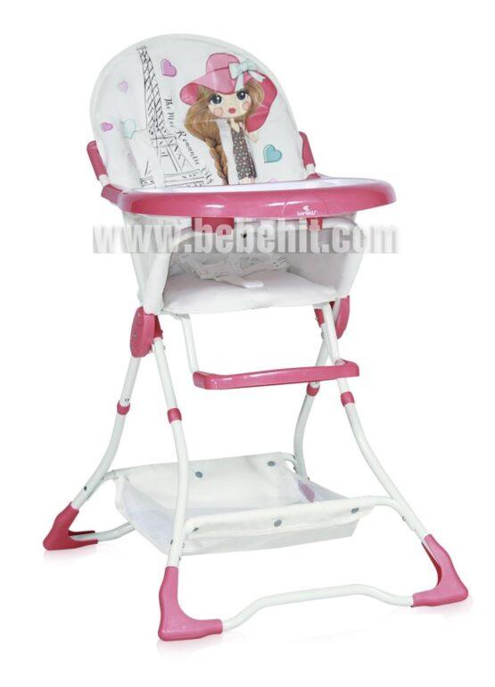 Столче за хранене Bon Bon; цвят: розов