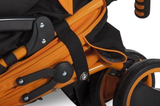 Бебешка количка за близнаци Duo Comfort; цвят: сив